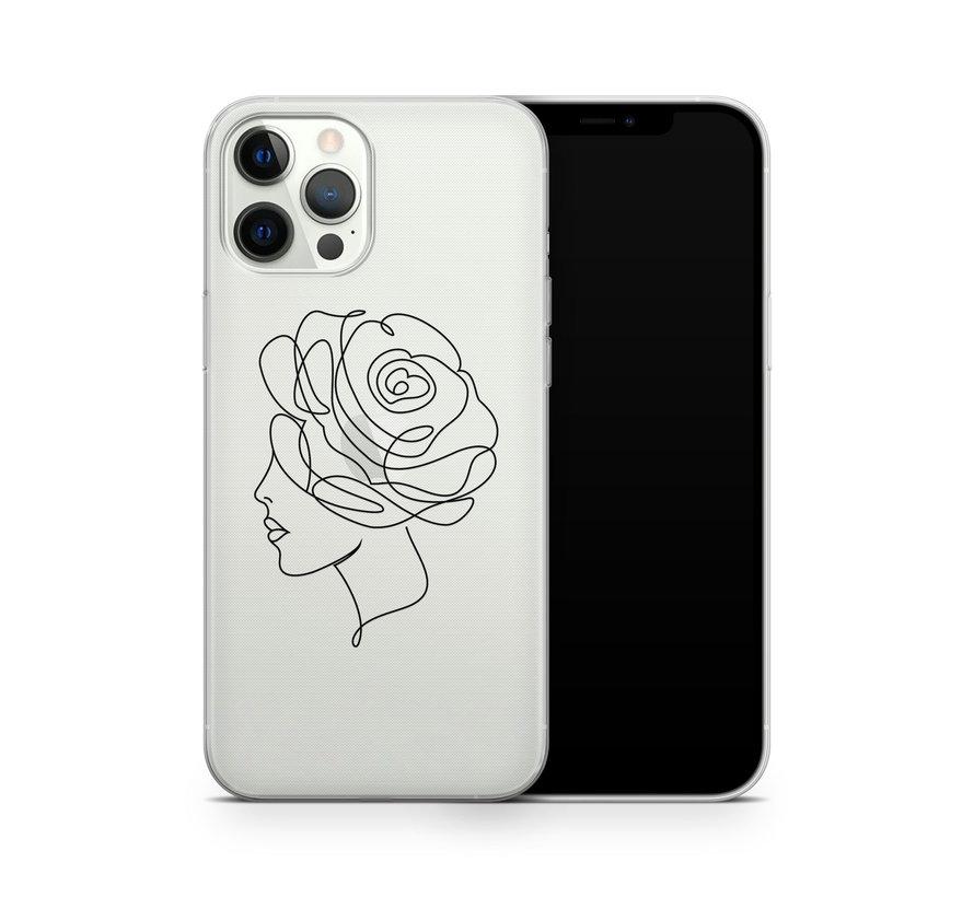 ShieldCase Flower Face iPhone 12 Pro hoesje (transparant)