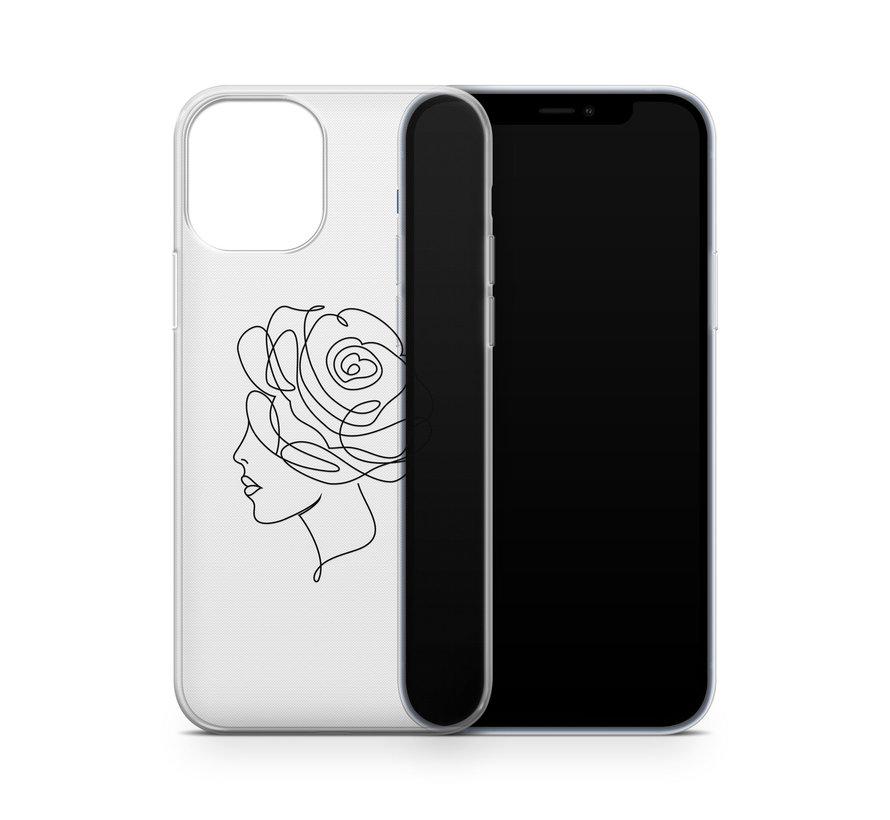 ShieldCase Flower Face iPhone 12 hoesje (transparant)