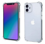 Ceezs Shockproof TPU hoesje met camera protectie iPhone 12 Mini (transparant)
