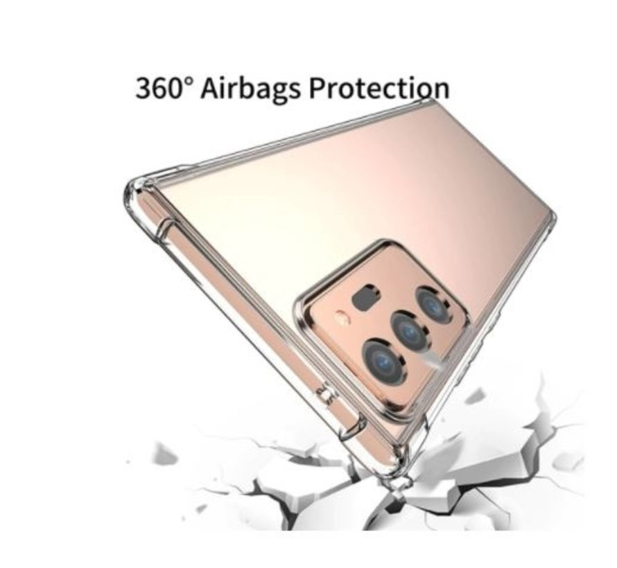 Ceezs Shockproof TPU hoesje met camera protectie Samsung Galaxy Note 20 Ultra (transparant)