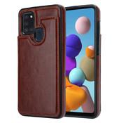 ShieldCase® Samsung Galaxy A21s wallet case (bruin)