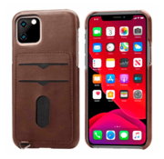 ShieldCase® Vintage case met pashouder iPhone 12 Mini - 5.4 inch (bruin)