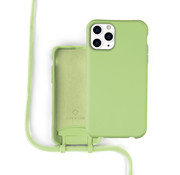 Coverzs Silicone case met koord iPhone 12 Pro Max (groen)