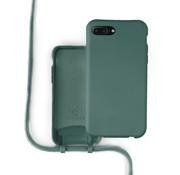 Coverzs Silicone case met koord iPhone 7/8 Plus (donkergroen)