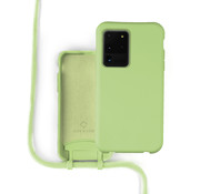 Coverzs Silicone case met koord Samsung Galaxy S20 Ultra (lichtgroen)