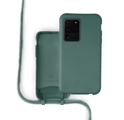 Coverzs Silicone case met koord Samsung Galaxy S20 Ultra (donkergroen)