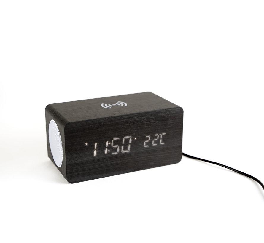 Coverzs digitale wekker, speaker en draadloze oplader in één