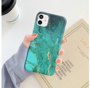 ShieldCase® Glossy Green Marmer iPhone 11 hoesje (groen)