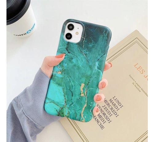 ShieldCase® ShieldCase Glossy Green Marmer iPhone 11 hoesje (groen)