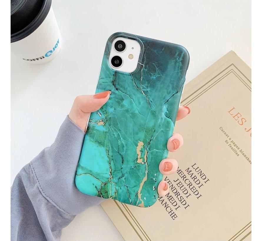 ShieldCase Glossy Green Marmer iPhone 11 hoesje (groen)