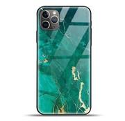 ShieldCase® Glossy Green Marmer iPhone 11 Pro Max hoesje (groen)