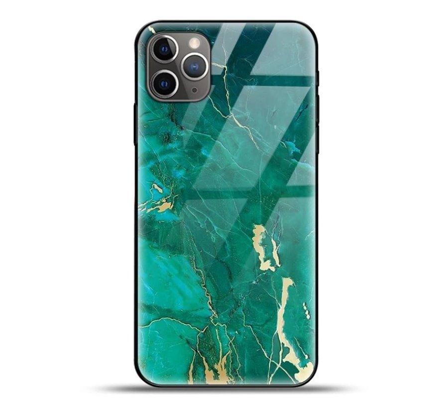 ShieldCase Glossy Green Marmer iPhone 11 Pro Max hoesje (groen)