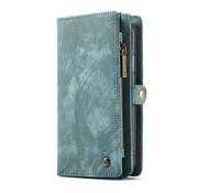 CaseMe Wallet Leren Bookcase Samsung S10E (grijs/groen)