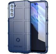 ShieldCase® Samsung Galaxy S21 FE schokbestendig hoesje (blauw)