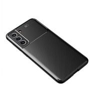 ShieldCase® Samsung Galaxy S21 FE carbon hoesje (zwart)