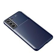 ShieldCase® Samsung Galaxy S21 FE carbon hoesje (blauw)