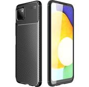 ShieldCase® Samsung Galaxy A22 5G carbon hoesje (zwart)
