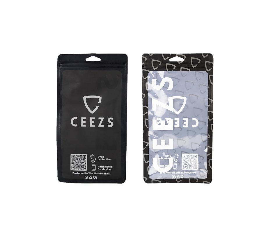 Ceezs iPhone 12 Mini hoesje siliconen / iPhone 12 Mini case silicone zwart + glazen Screenprotector