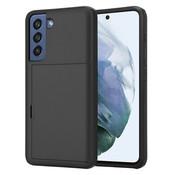 ShieldCase® Kaarthouder case met slide Samsung Galaxy S21 FE (zwart)