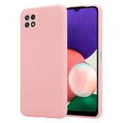 ShieldCase® Samsung Galaxy A22 5G hoesje siliconen (roze)