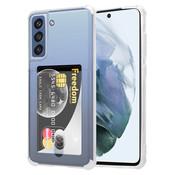 ShieldCase® Samsung Galaxy S21 FE Shock case met pasjeshouder