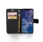 Coverzs Samsung Galaxy A12 bookcase hoesje (zwart)