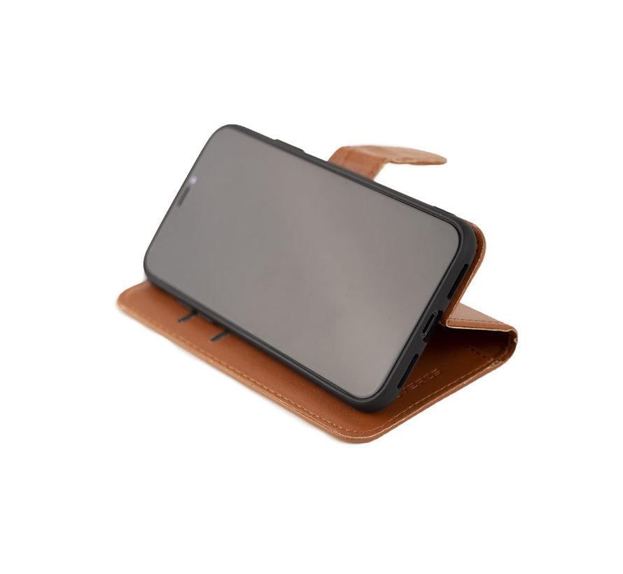 Coverzs Samsung Galaxy S21 bookcase hoesje (bruin)