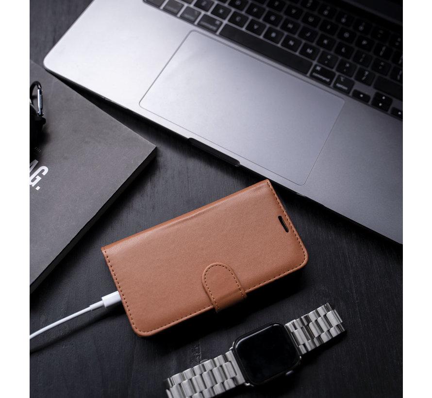 Coverzs Samsung Galaxy S21 Ultra bookcase hoesje (bruin)