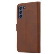 ShieldCase® Samsung Galaxy S21 FE bookcase (bruin)