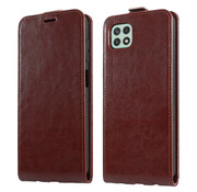 ShieldCase® Samsung Galaxy A22 5G Flip case (bruin)