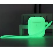ShieldCase® Airpods case glow in the dark (groen)