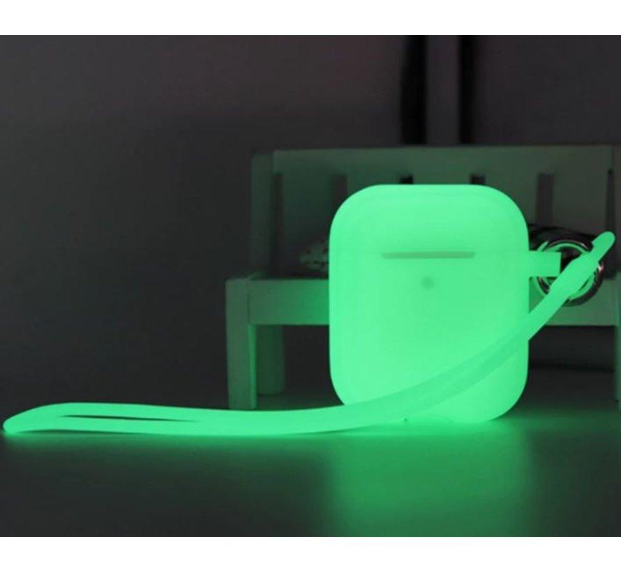 Shieldcase Airpods case glow in the dark (groen)