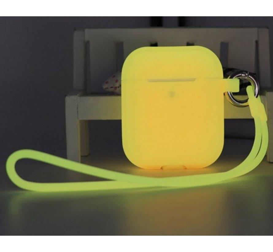 Shieldcase Airpods case glow in the dark (geel)