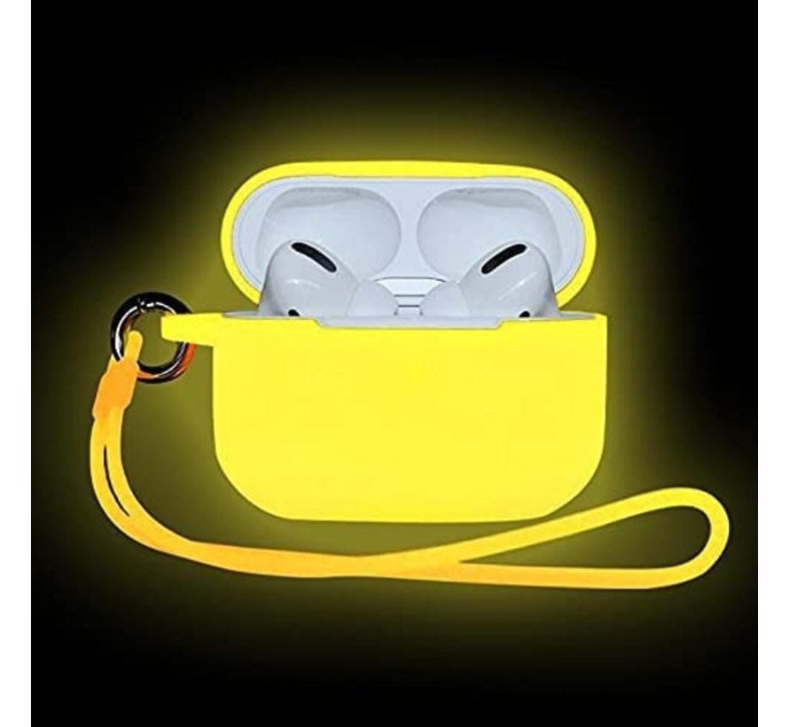 Shieldcase Airpods Pro case glow in the dark (geel)