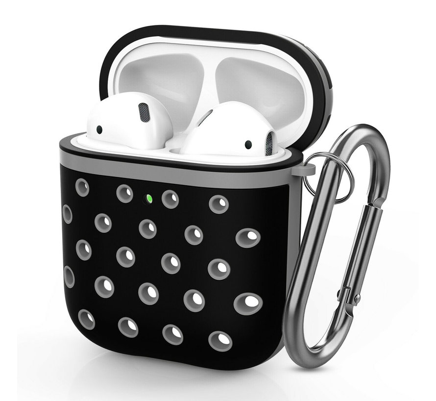 Shieldcase Airpods silicone case (zwart/grijs)