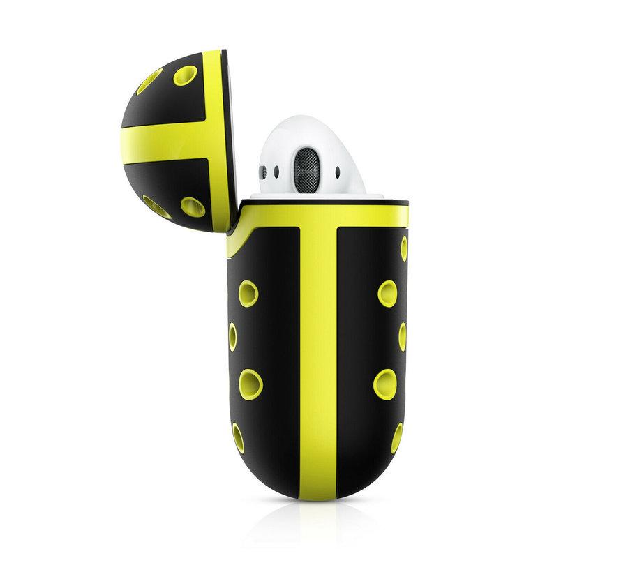 Shieldcase Airpods silicone case (zwart/geel)