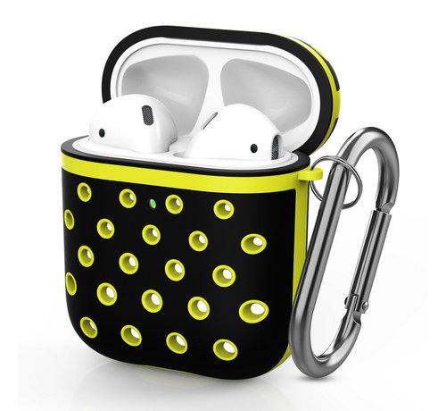 ShieldCase® Shieldcase Airpods silicone case (zwart/geel)
