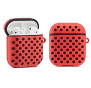ShieldCase® Airpods silicone case (rood/zwart)