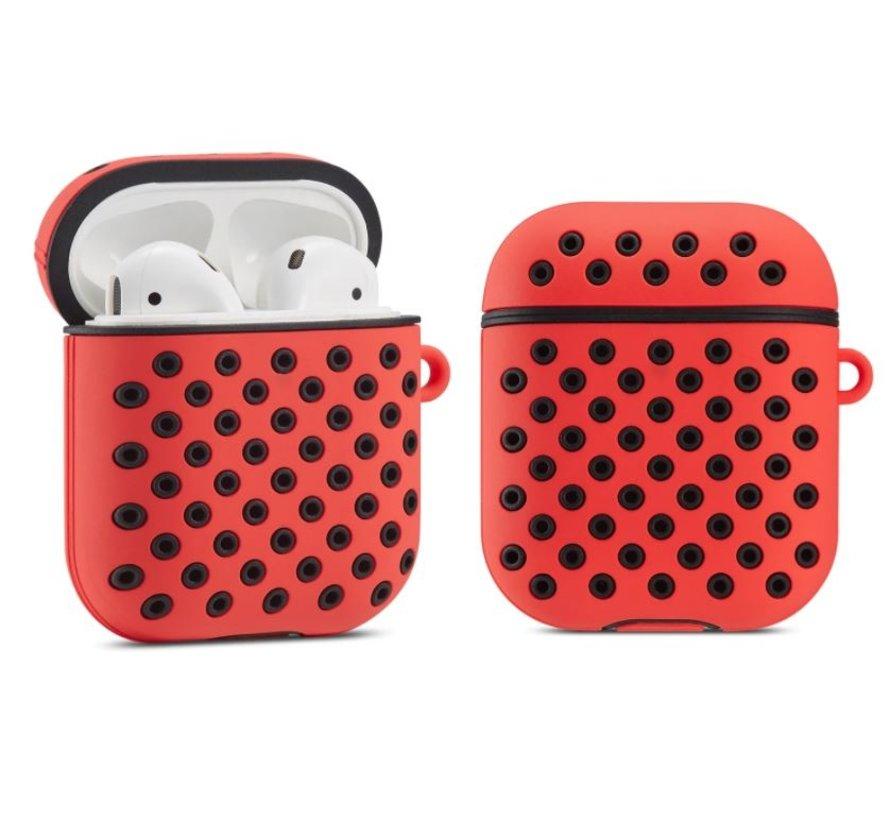 Shieldcase Airpods silicone case (rood/zwart)