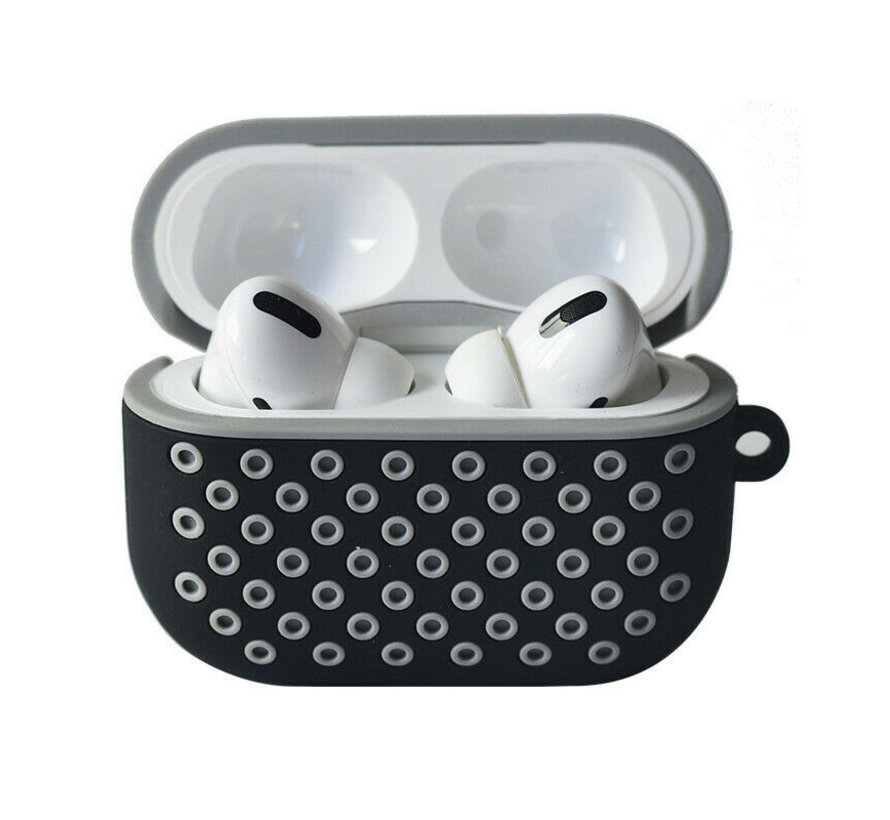 Shieldcase Airpods Pro silicone case (zwart/grijs)