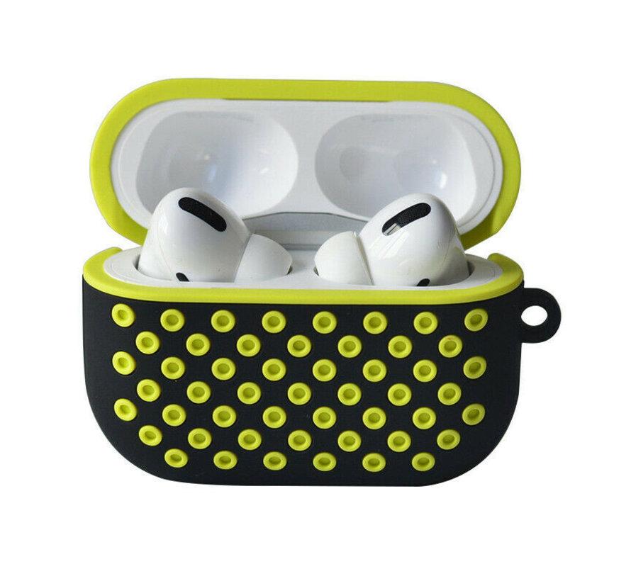 Shieldcase Airpods Pro silicone case (zwart/geel)