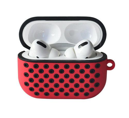 ShieldCase® Shieldcase Airpods Pro silicone case (rood/zwart)