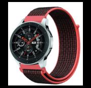 Samsung Galaxy Watch nylon band (zwart/rood)