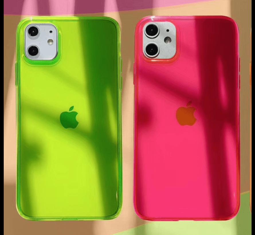 ShieldCase fluoriserend hoesje iPhone 11 (geel)