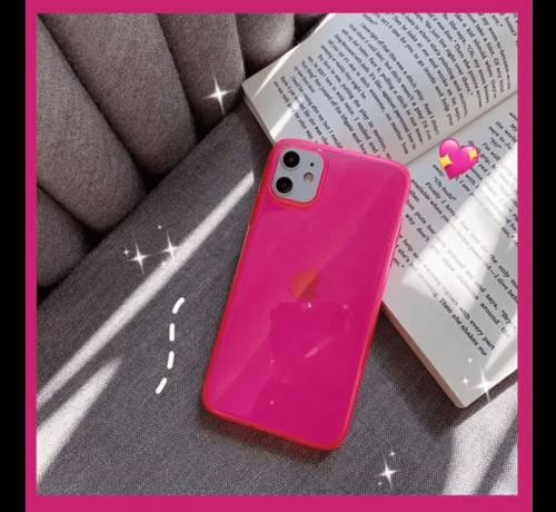 ShieldCase® ShieldCase fluoriserend hoesje iPhone 11 (roze)