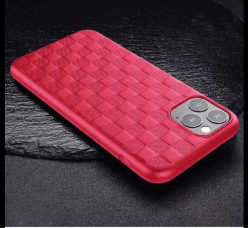 ShieldCase® ShieldCase Geblokt iPhone 11 hoesje (rood)