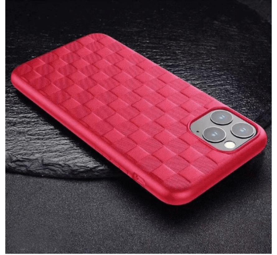 ShieldCase Geblokt iPhone 11 hoesje (rood)