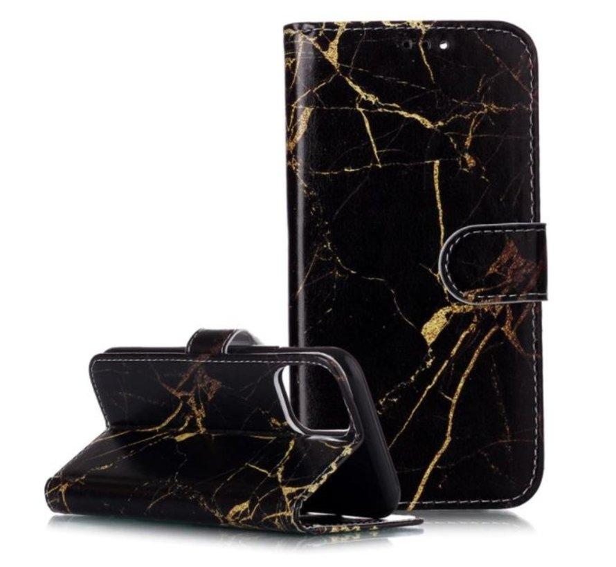 Shieldcase Amazing Black Marmer iPhone 11 Pro Max Bookcase