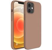 ShieldCase® Silicone case iPhone 12  (lichtbruin)