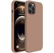ShieldCase® Silicone case iPhone 12 Pro Max (lichtbruin)